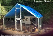 Galvanised Pet Cages / Ideal to house your pet weather they are a chicken, dog, ferret or bunny.