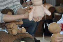 muñecos de algodón y media velada