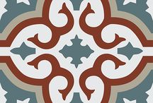 Marokkolaisia sementtilaattoja / Sementtilaattoja, keraamisia laattoja, kuviolaattoja, marrakech laattoja, terrakottalaattoja  www.viinikantahti.com