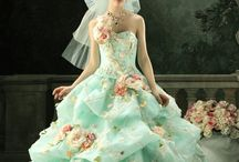 Awesome dresses / I'm still wondering how do you walk or sit or get in the car in a dress like these...