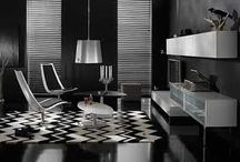 Black and White Interior Design / Black and white is a timeless classic of interior design. The perfect balance between the two colours must be met!