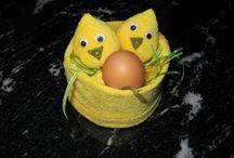 easter( decoration) /pasen/Ostern/Ostereier/eieren / Leuke paas deco kuikens self made