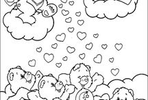 coloring pages 1 (care bears)
