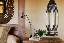 Eclectic Bohemian Decor / It's all about hanging lanterns, tassles, handmade fabrics, candles, ikat, etc.