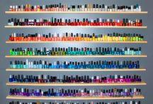 Nail Polish / Nail polish colors I want, and nail polish techniques.
