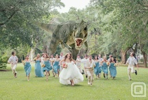 Jessica and David: loveasaurous  / Dinosaur themed wedding. A love thicker than La Breaks tar pits, that has evolved so deep that it will never be extinct.  / by Courtney Houlihan
