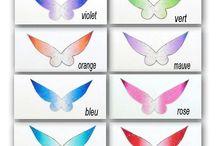 AILES DE FEES / les petites ailes inspirées d 'une célèbre petite fée en polyester transparent pailleté ou non pour vos petites figurines ou projets home déco