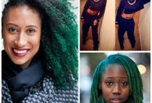 Green Natural Hair / lusting for colored curls? dive into some great natural hair inspiration featuring green natural hair