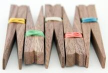 wooden pegs / broches / by Tienda Kyoko