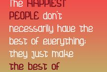 Happiness Quotes / Collection of quotes that touch on the emotion of happiness.