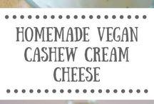 Homemade cashew cheese