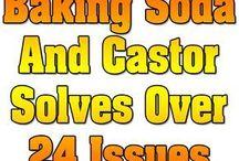 Castor oil and baking soda