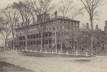 The Seminary, Inside & Out / Mount Holyoke existed as Mount Holyoke Female Seminary from 1837 to 1887, and then as Mount Holyoke Seminary and College until its final transformation to a college in 1893. Before it burned down in September 1896, most of Mount Holyoke's activities happened in the Seminary Building.
