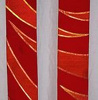 Red Clergy Stoles / Clergy stole designs for Palm Sunday, Pentecost or other church holy days.