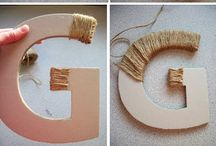 "Initial crafts for the ""G"" wall :) / by LeighAnne Gregory"