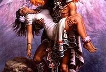 Guerreros Aztecas y Mayas