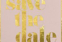 Papeterie / Einladungen, Save the Date Karten, Menü und Dankeskarten