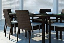 Mona Modern / Stolička MONA s opierkami a čalúnením z umelého ratanu.    - opierky Vám budú oporou pre ruky  - čalúnenie poskytuje dokonalý komfort sedenia  - v prípade potreby sa dá povlak sňať s možnosťou prania alebo výmeny       - konštrukcia umožňuje uložiť jednu stoličku na druhú a tým sa stoličky stávajú stohovateľné   Konštrukcia je zo zváraného hliníka, výplet z kvalitného polyuretanu, čalúnenie z polyesteru impregnovaného teflónom – je možné prať, bez aviváže