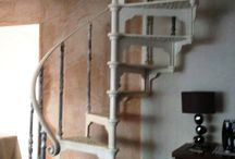 Spiral Staircase / UKAA reclaim and salvage antique second hand cast iron spiral staircases. They come in a variation of heights and diameters and can either be anti-clockwise or clockwise as regards how the staircase spirals. Most of the spiral staircases that we sell would have been made to a customer's particular specification some spirals will come with a nice large run of cast iron uprights for the landing but some would have been designed to go from the top step directly into the room.