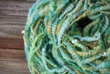 Little Dixie Fiber Co. Yarn / Textured, Hand Dyed, Hand spun & Mill spun Yarns