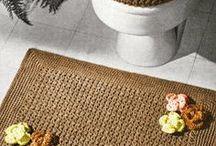 knitted bath mats