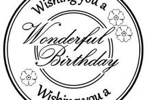 szöveg Születésnap / text Birthday Vintage colorful transzfer transfer
