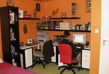 une chambre un bureau