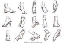 Desenhos - Referências anatômicas