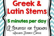 Spelling/Greek and Latin Stems