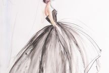 Kreslené šaty