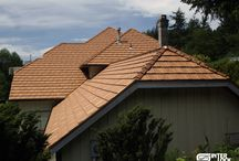 Interlock® Shake Roofing / With Interlock® Shake Roofing you will get the natural beauty of cedar shake roofing for a lifetime. Unlike traditional cedar shakes, Interlock® Shake will never split, warp, mold, or rot.  And you will not require routine maintenance or replacement. / by Interlock Metal Roofing