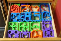 "Bento Booty & Lunchbox Loot Storage / We bento lunch packers have a whole lot of lunch-making loot - containers, cups, molds, picks, cutters in every shape, number, & letter of the alphabet... it's all in good fun until somebody loses an ""i"" :)  Here's how we keep our gear organized - our genius storage systems - or those we wish were ours!   / by Cristi"