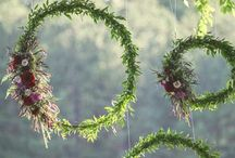 V <3 R wedding- Outdoor decor / Flower arrangements, lights and drapery idea for outdoor areas