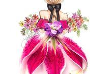 платья цветы