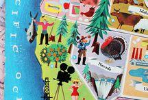 California Here I Come / California, Orange County, Napa, park, map, redwood, wine, pacific