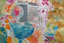 Schilderijen & collages / Werk van Ellen Tijmes