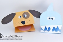 Paper hand puppets