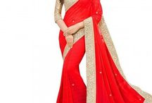 Ravishing Red Sarees / Feel the bold and bewitching appeal of red colour by slipping into stunning red designer sarees. Shine up, you gorgeous!!!