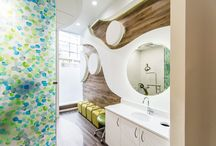 Brushing Station Dental Office Designs / Some fun, elegant, modern brushing station design by Arminco Inc