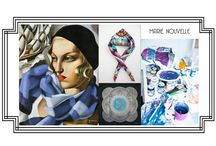 MARIE NOUVELLE by Maria Dermengiu / Silk Scarf Collection 2013/2014. All printed from the artist's paintings. Info and orders - andreea@zenya.ro