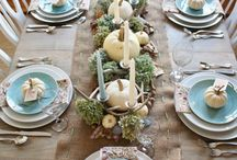 Coastal Thanksgiving / Creating a coastal-themed thanksgiving, or simply adding a touch of the coast to your celebration.