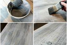 Få nytt trä att se slitet ut