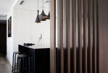 Slatted wall lighting