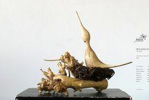 Amazing Unique Wooden Sculptures / Sculptures of birds from Danube Delta