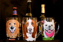 Custom Pet Portraits on Mugs / Waggingtailportraits.com also paints custom pet portraits on beer and coffee or tea mugs. One -of-a-kind gift for that one-of-a-kind pet lover.