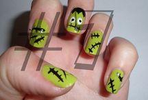 Nails Art Halloween Monster / Nails Art Halloween Monster
