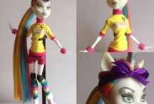 My customized Dolls - by Luke Michael Andalis / I love customizing spare dolls, to bring to life some ideas I had. I love collecting Monster High an Ever After High dolls! So to add to my collection are a few of my own creations