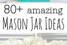 Mason jar Loooooovvvvvveeeee / by Deb For Blue House Boutique