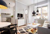 Decoração, apartamentos pequenos / Boas ideias pequenos espaços!