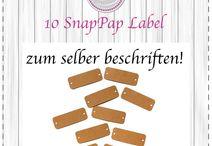 Label aus SnapPap / Fertig geschnittene Label zum Vernähen